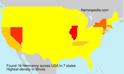 Surname Hermanny in USA