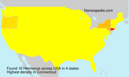 Surname Hermenze in USA