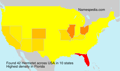 Surname Hermetet in USA