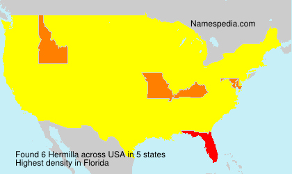 Surname Hermilla in USA