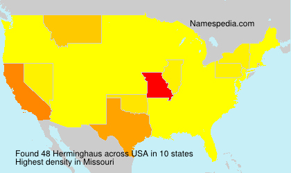 Surname Herminghaus in USA