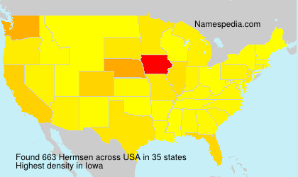 Surname Hermsen in USA