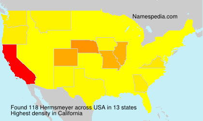Surname Hermsmeyer in USA