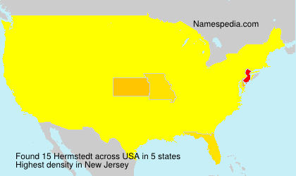 Surname Hermstedt in USA