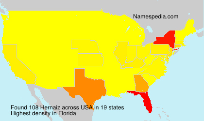 Surname Hernaiz in USA