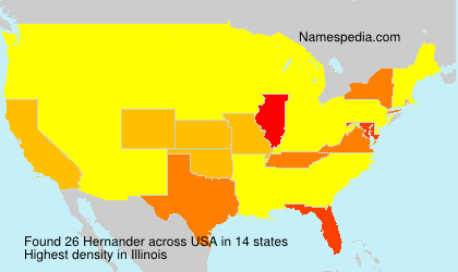 Surname Hernander in USA