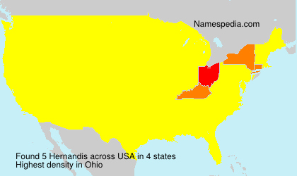 Surname Hernandis in USA