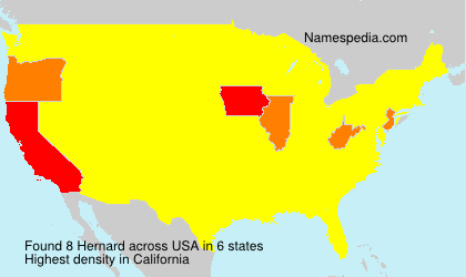 Surname Hernard in USA