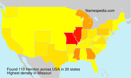 Surname Hernton in USA