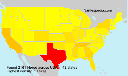 Surname Herod in USA