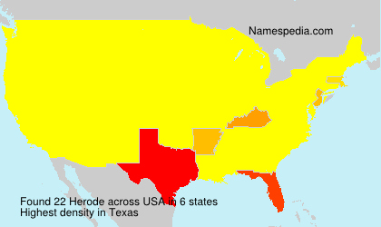 Surname Herode in USA