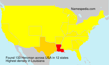 Surname Heroman in USA