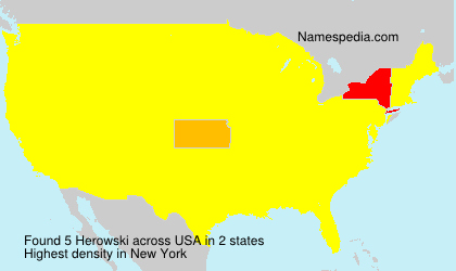 Surname Herowski in USA