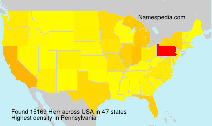 Surname Herr in USA