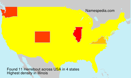 Surname Herrebout in USA