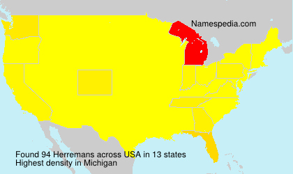 Surname Herremans in USA