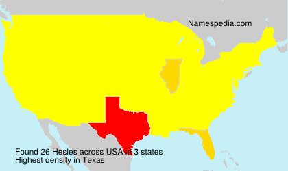 Surname Hesles in USA