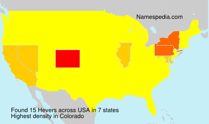 Surname Hevers in USA