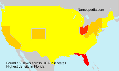 Surname Hewis in USA