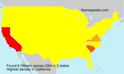 Surname Hibachi in USA