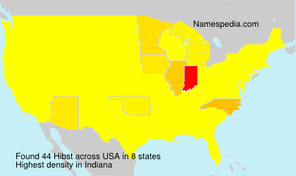 Surname Hibst in USA