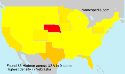 Surname Hiebner in USA