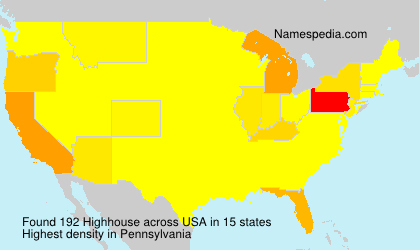 Surname Highhouse in USA