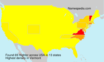 Surname Highter in USA
