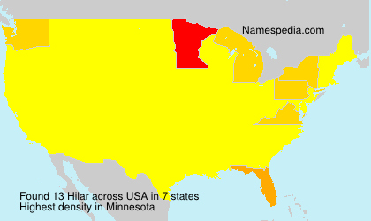 Surname Hilar in USA