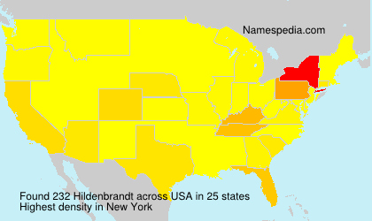 Surname Hildenbrandt in USA