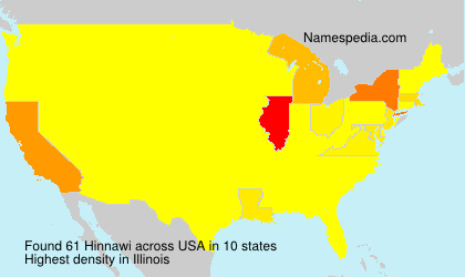 Surname Hinnawi in USA
