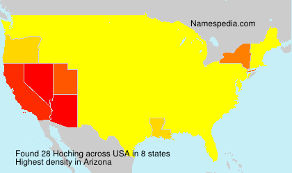 Surname Hoching in USA