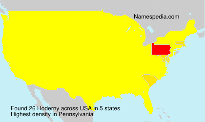 Surname Hoderny in USA
