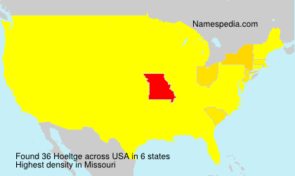 Surname Hoeltge in USA