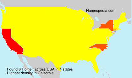 Surname Hoffleit in USA