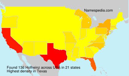 Surname Hofheinz in USA