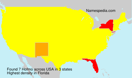 Surname Hofmo in USA