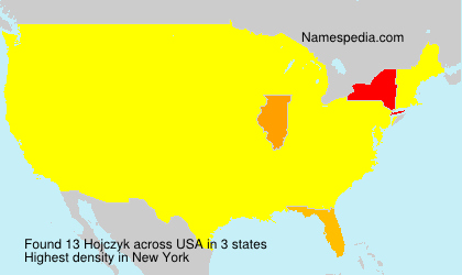 Surname Hojczyk in USA