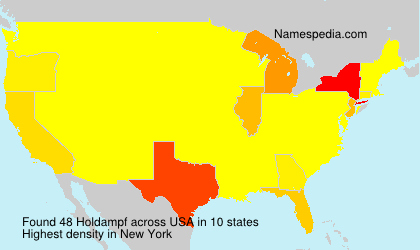 Surname Holdampf in USA