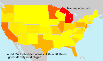 Surname Hollerbach in USA