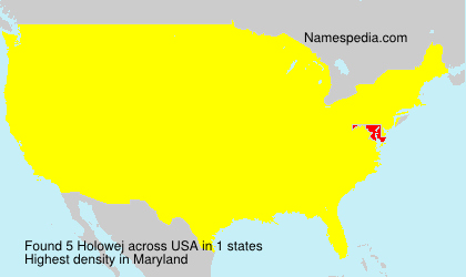 Surname Holowej in USA
