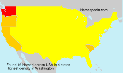 Surname Homad in USA