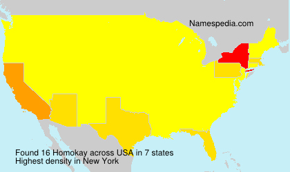 Surname Homokay in USA