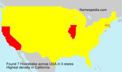 Surname Hoorebeke in USA