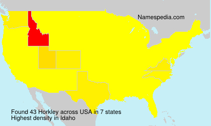 Surname Horkley in USA
