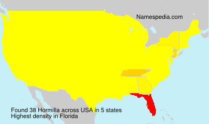Surname Hormilla in USA