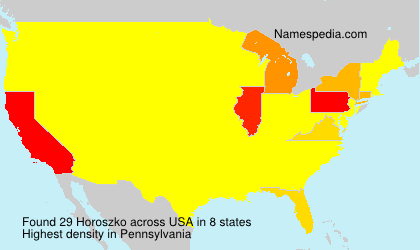 Surname Horoszko in USA