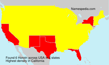 Surname Horotn in USA