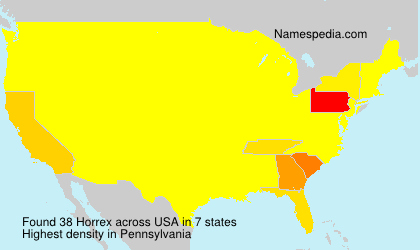 Surname Horrex in USA