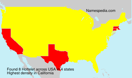 Surname Hottelet in USA